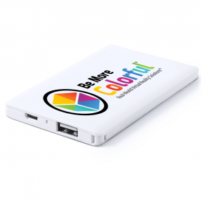 full colour printed power bank tech gift
