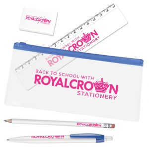 branded pencil case set
