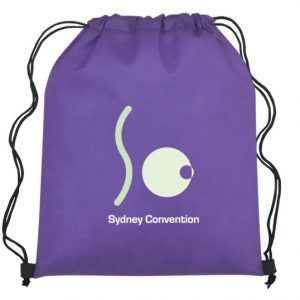 printed US drawstring bag