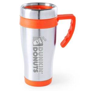 Coloured Cafet Thermal Cup in orange