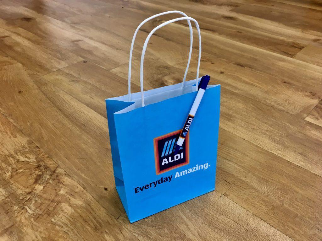 branded paper bag twisted handle
