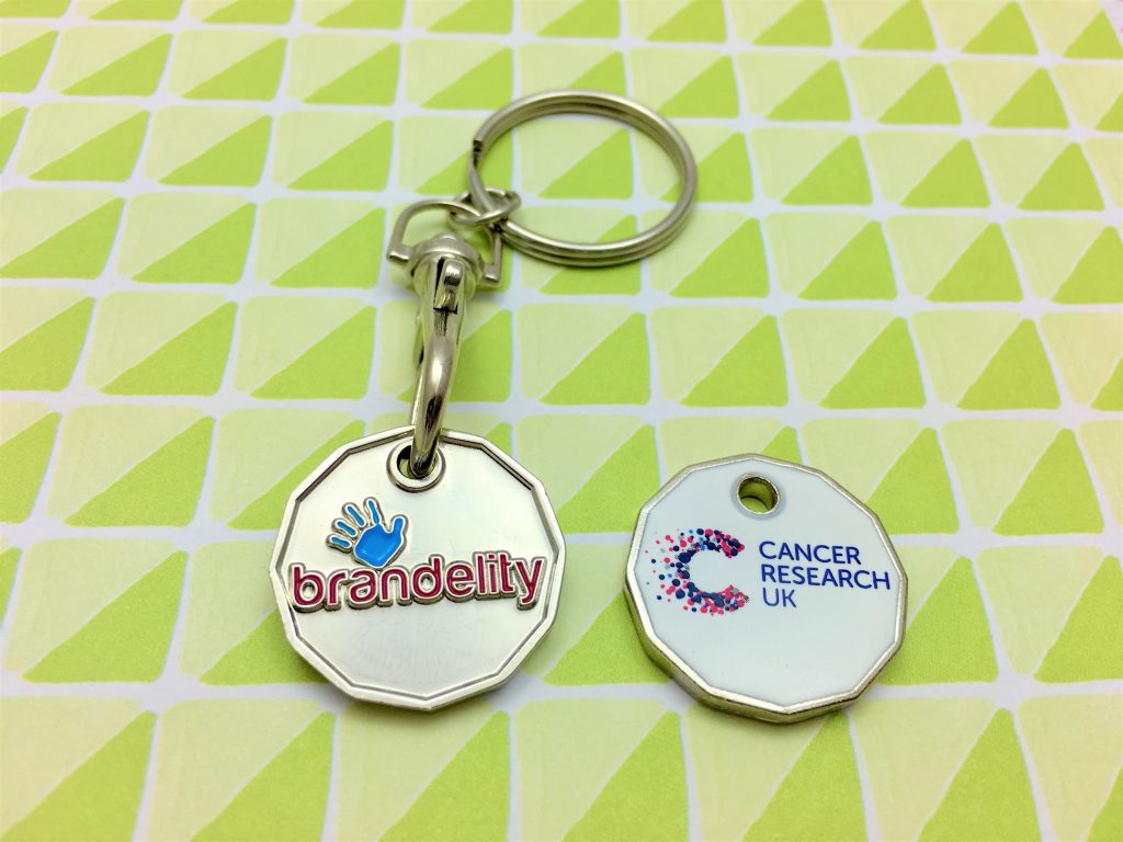 branded trolley coins