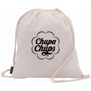 Eco-Friendly Branded Organic Cotton Drawstring Bag with Company Logo