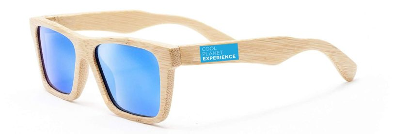 International Sunglasses Day bamboo branded example