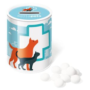 promotional tinned mints in money box