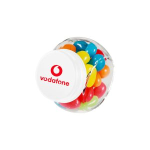 Candy Jar with printed company logo on lid