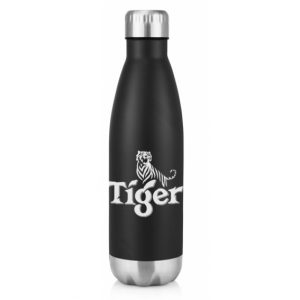 500ml black stainless steel water bottle with logo engraving