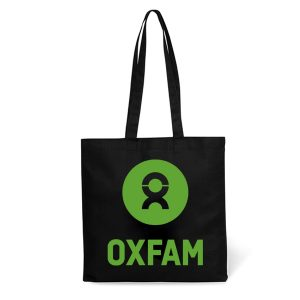 Black Logo Printed Tote Bag with example logo printed