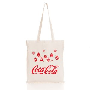 Christmas Tote Bag with Coca Cola logo