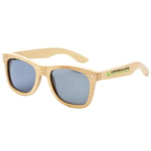 branded bamboo sunglasses