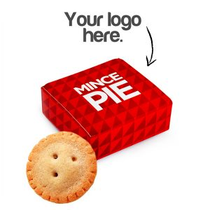 Mince Pie with customisable packaging