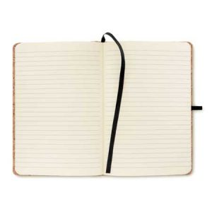eco-friendly notebook showing lined pages