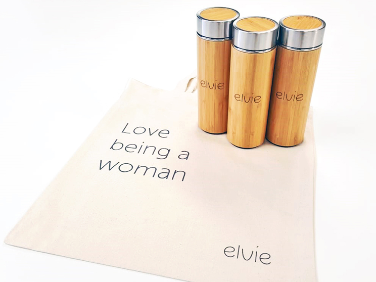 eco friendly merchandise for Elvie