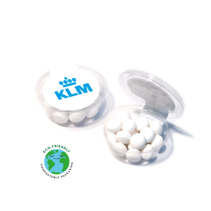 Promotional mints in eco-tub