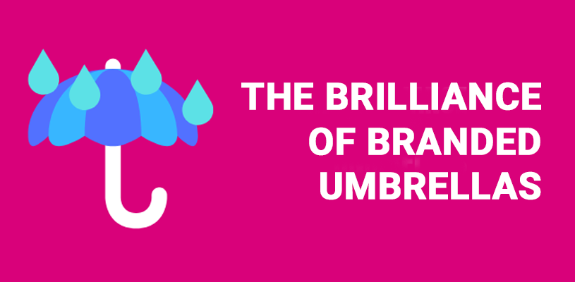 Branded umbrellas blog image