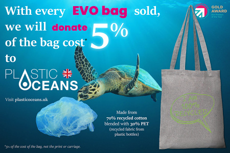 recycled tote bag donation