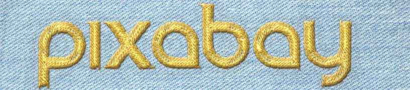 Embroidered logo example