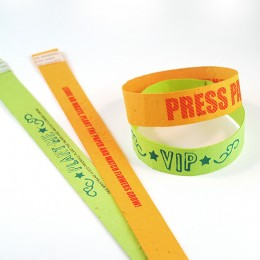 branded paper seed wristbands