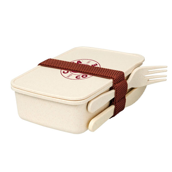 bamboo lunchbox printed with your logo