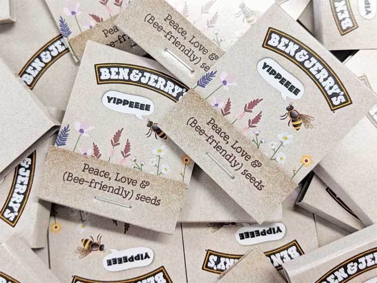 eco giveaways for Ben and Jerrys Branded Seed Stixs
