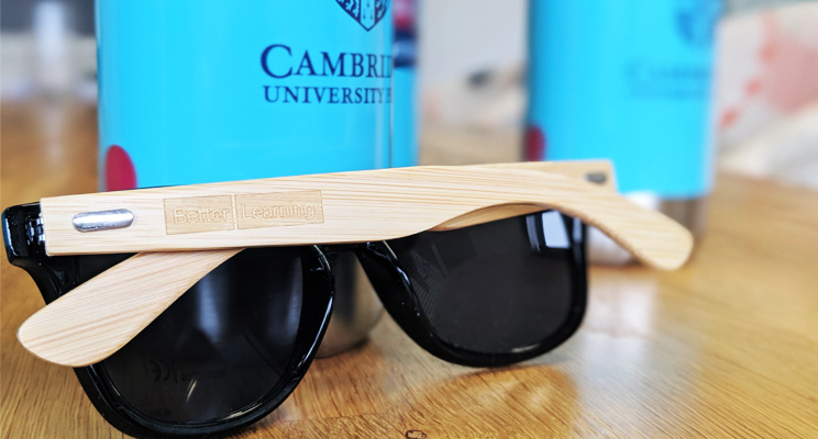 conference giveaways branded sunglasses