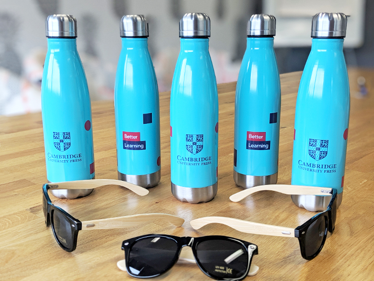 conference giveaways branded waterbottles