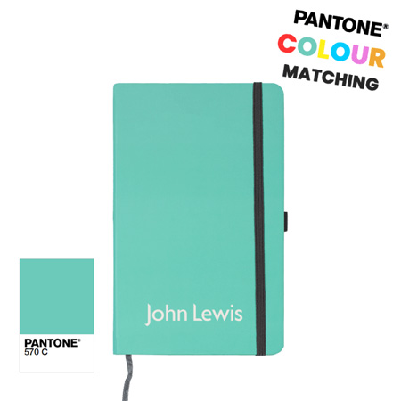 pantone matched notebook with branding