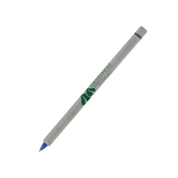 logo printed recycled paper pen