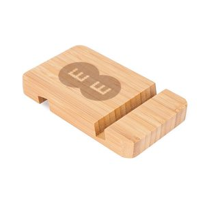 Bamboo Phone holder with logo engraving