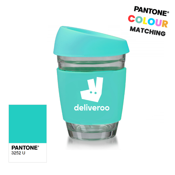 Pantone Branded Glass Coffee Cups