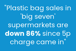 plastic bag sales down following 5p law stat