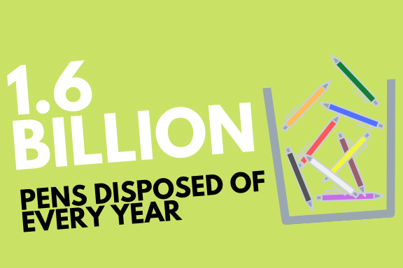 1.6 Billion pens disposed of every year