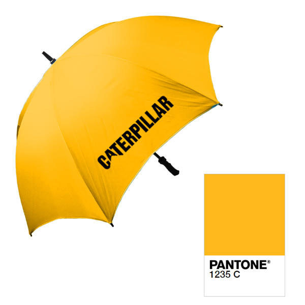 Pantone Matched Promotional Merchandise umbrella for Caterpillar