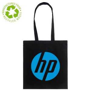 Eco-friendly recycled black Branded Cotton Bag