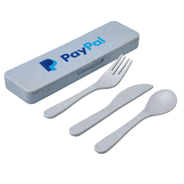 Branded Bamboo Reusable Cutlery with Case