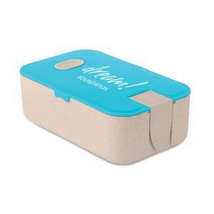 Branded wheat lunchbox with coloured lid