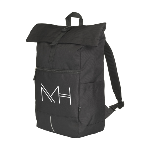 branded rpet backpack from recycled bottles