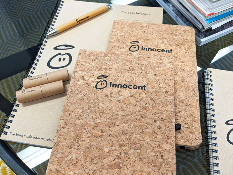 Sustainable Stationery for Innocent Drinks