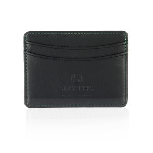 executive recycled leather credit card holder branded