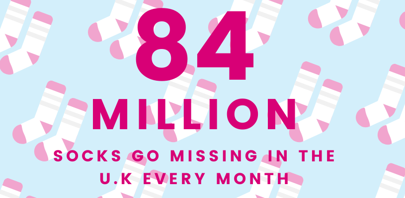Number of missing socks in the U.K