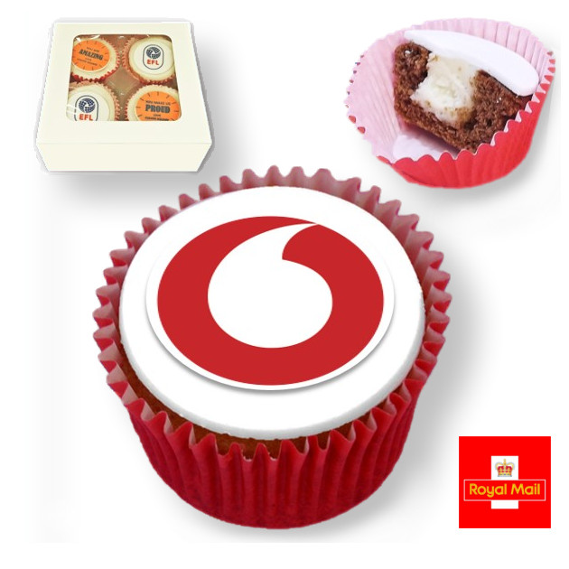 Logo Branded Cupcake Corporate Letterbox Gift