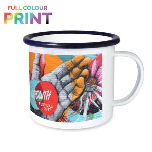 full colour print enamel mug
