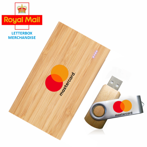 Branded Bamboo Letterbox Tech Gift Set