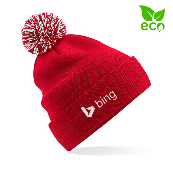 Red Branded Beanie Hat with Logo